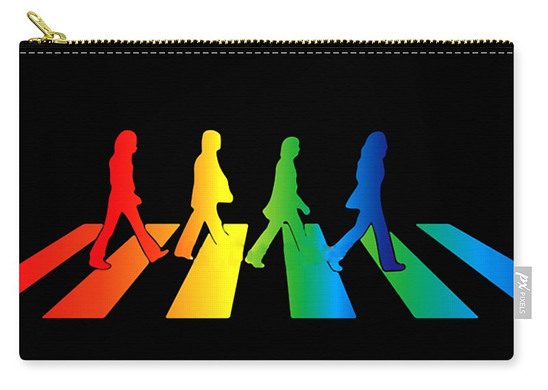 The Beatles Carry-all Pouch featuring the digital art The Beatles by Jofi Trazia