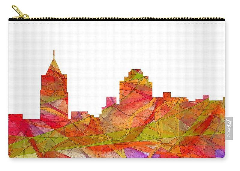 Virginia Beach Virginia Skyline Carry-all Pouch featuring the digital art Virginia Beach Virginia Skyline by Marlene Watson