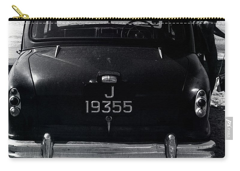 Surf Carry-all Pouch featuring the photograph 50's Surfer by Charles Stuart