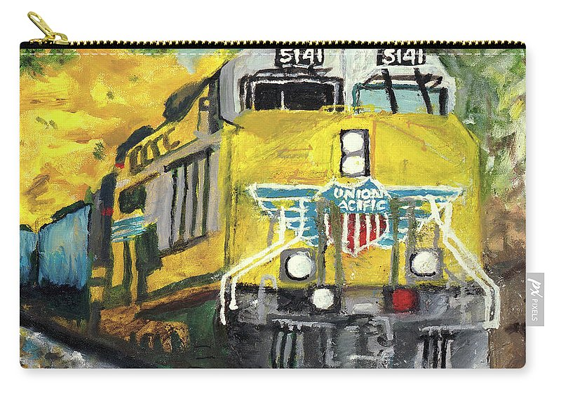 Train Carry-all Pouch featuring the painting 5141 by Terry Lewey