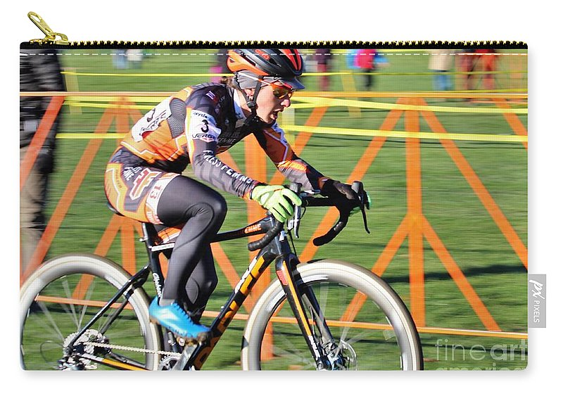Fearless Femme Racing Carry-all Pouch featuring the photograph Fearless Femme Racing by Donn Ingemie