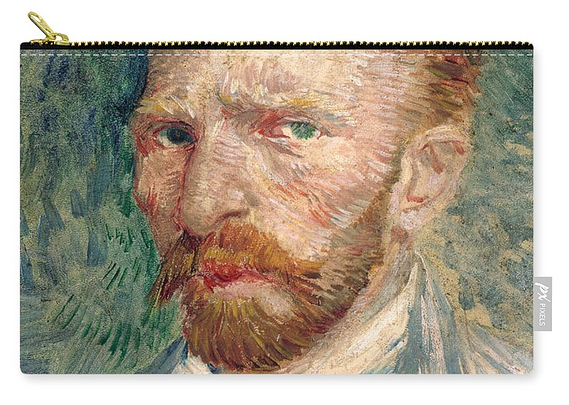 Van Gogh Carry-all Pouch featuring the photograph Self Portrait by Vincent Van Gogh