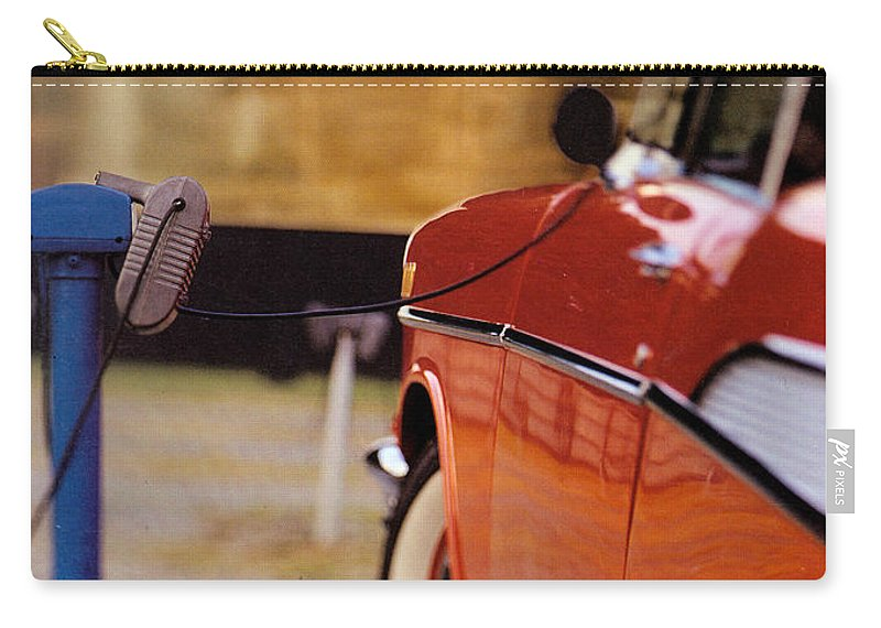 57 Carry-all Pouch featuring the photograph 57 Chevy At The Drive-in by Robert Ponzoni