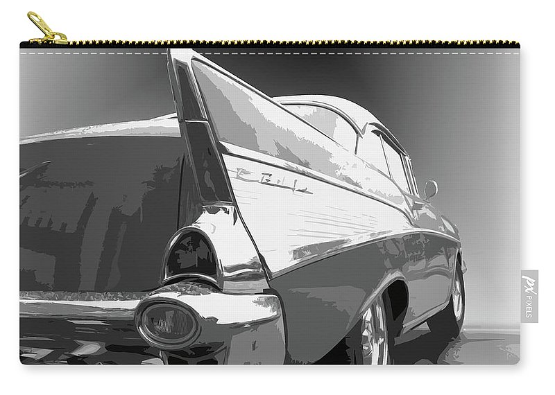 1957 Carry-all Pouch featuring the photograph 57 Chevy Horizontal by Dick Goodman