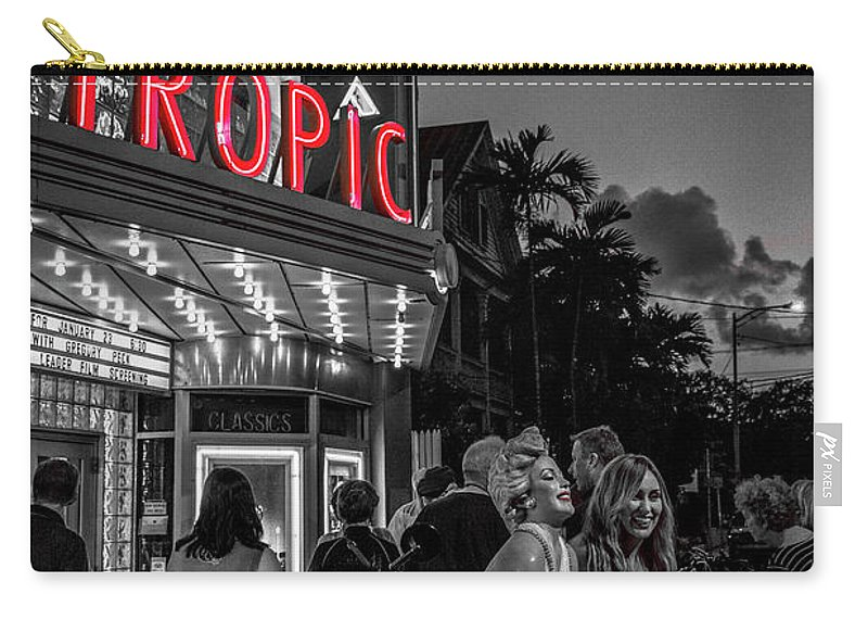 Florida Carry-all Pouch featuring the photograph 5828- Tropic Theater by David Lange