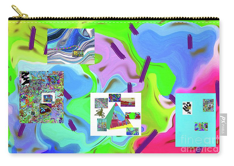 Walter Paul Bebirian Carry-all Pouch featuring the digital art 6-19-2015dabcdefghijklm by Walter Paul Bebirian