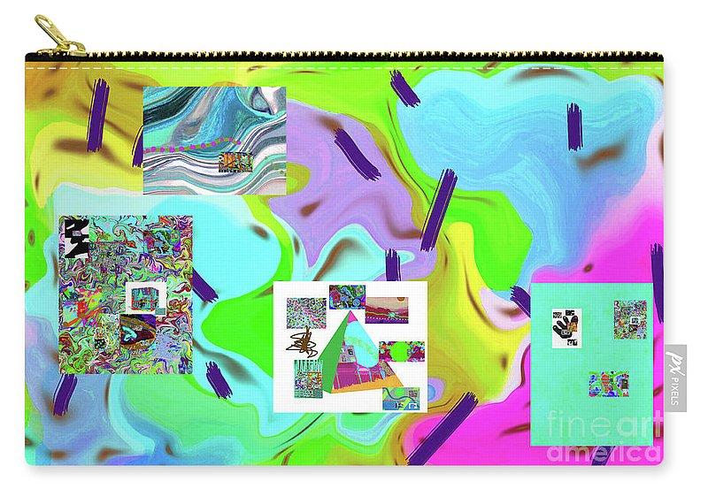 Walter Paul Bebirian Carry-all Pouch featuring the digital art 6-19-2015dabcdefghijklmn by Walter Paul Bebirian
