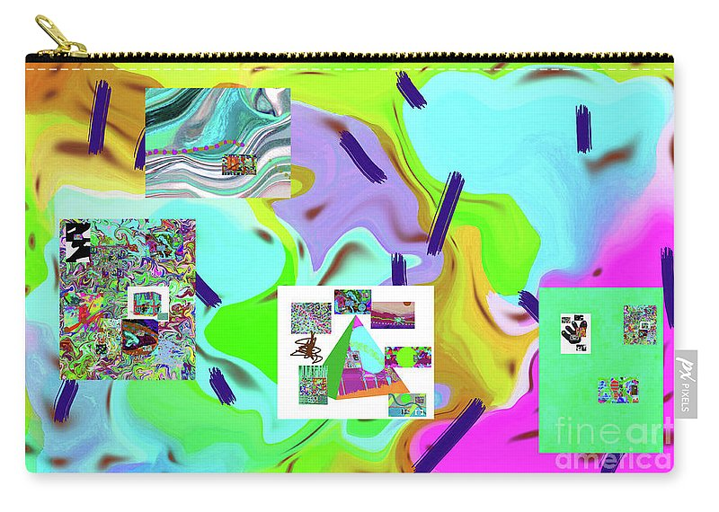 Walter Paul Bebirian Carry-all Pouch featuring the digital art 6-19-2015dabcdefghijklmno by Walter Paul Bebirian