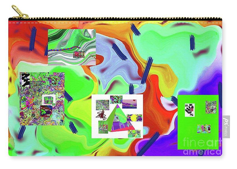 Walter Paul Bebirian Carry-all Pouch featuring the digital art 6-19-2015dabcdefghijklmnopqrt by Walter Paul Bebirian