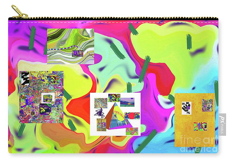 Walter Paul Bebirian Carry-all Pouch featuring the digital art 6-19-2015dabcdefghijklmnopqrtuvwxyza by Walter Paul Bebirian