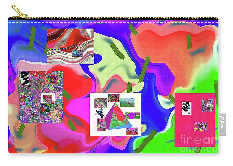 Walter Paul Bebirian Carry-all Pouch featuring the digital art 6-19-2015dabcdefghijklmnopqrtuvwxyzabcdefgh by Walter Paul Bebirian