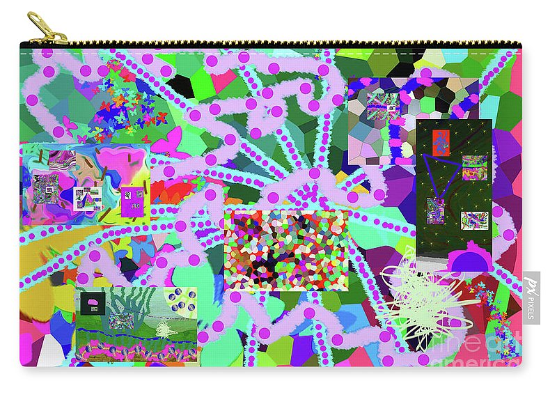 Walter Paul Bebirian Carry-all Pouch featuring the digital art 6-19-2015eab by Walter Paul Bebirian