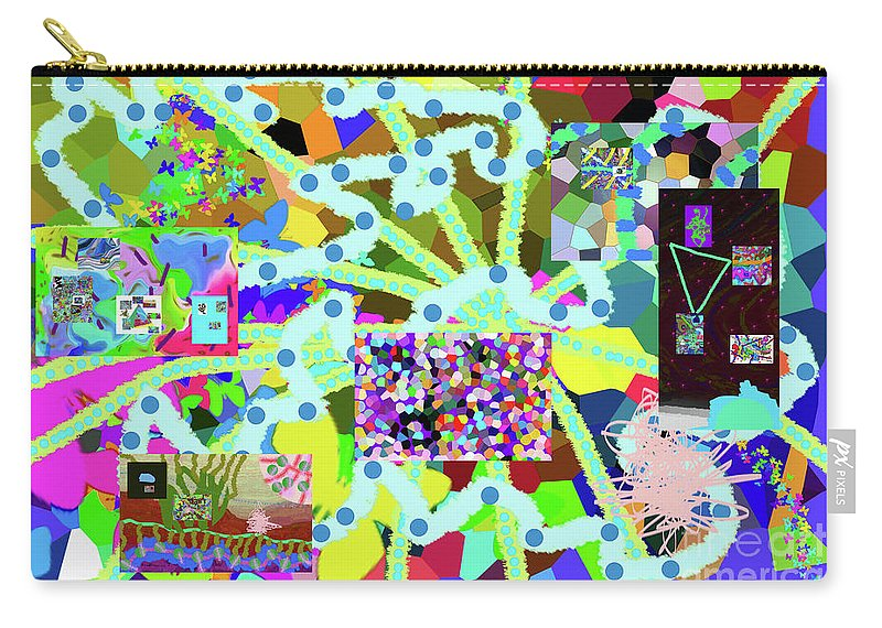 Walter Paul Bebirian Carry-all Pouch featuring the digital art 6-19-2015eabcdefghijkl by Walter Paul Bebirian