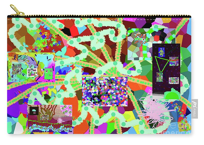 Walter Paul Bebirian Carry-all Pouch featuring the digital art 6-19-2015eabcdefghijklmnop by Walter Paul Bebirian