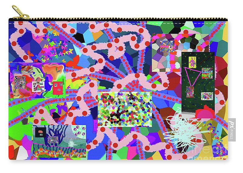 Walter Paul Bebirian Carry-all Pouch featuring the digital art 6-19-2015eabcdefghijklmnopqrtuvwxyzabcdefg by Walter Paul Bebirian