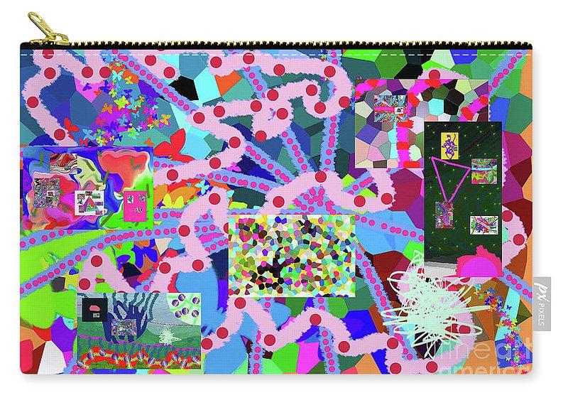 Walter Paul Bebirian Carry-all Pouch featuring the digital art 6-19-2015eabcdefghijklmnopqrtuvwxyzabcdefghi by Walter Paul Bebirian