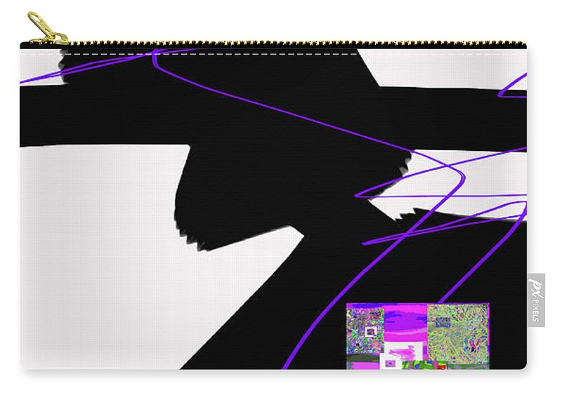 Walter Paul Bebirian Carry-all Pouch featuring the digital art 6-22-2015d by Walter Paul Bebirian