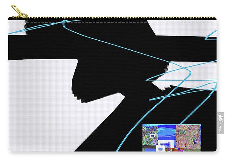 Walter Paul Bebirian Carry-all Pouch featuring the digital art 6-22-2015dabcdefg by Walter Paul Bebirian