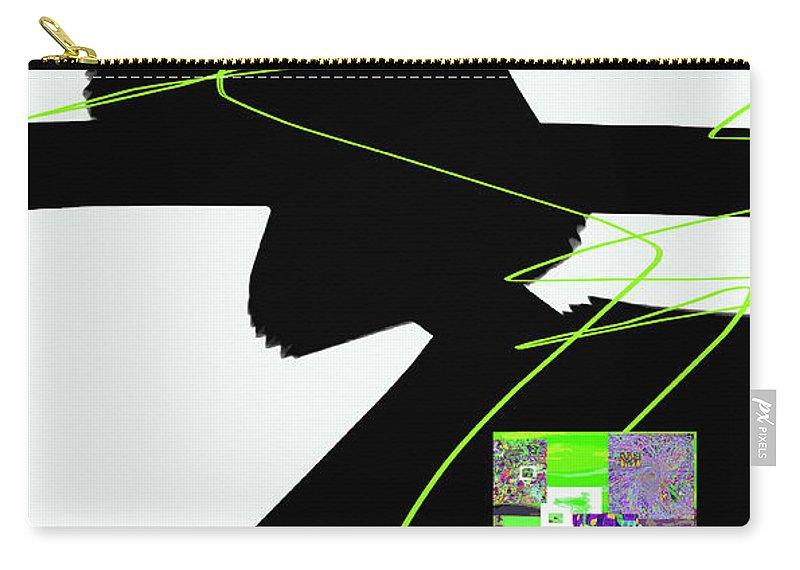 Walter Paul Bebirian Carry-all Pouch featuring the digital art 6-22-2015dabcdefghijklmnopqr by Walter Paul Bebirian