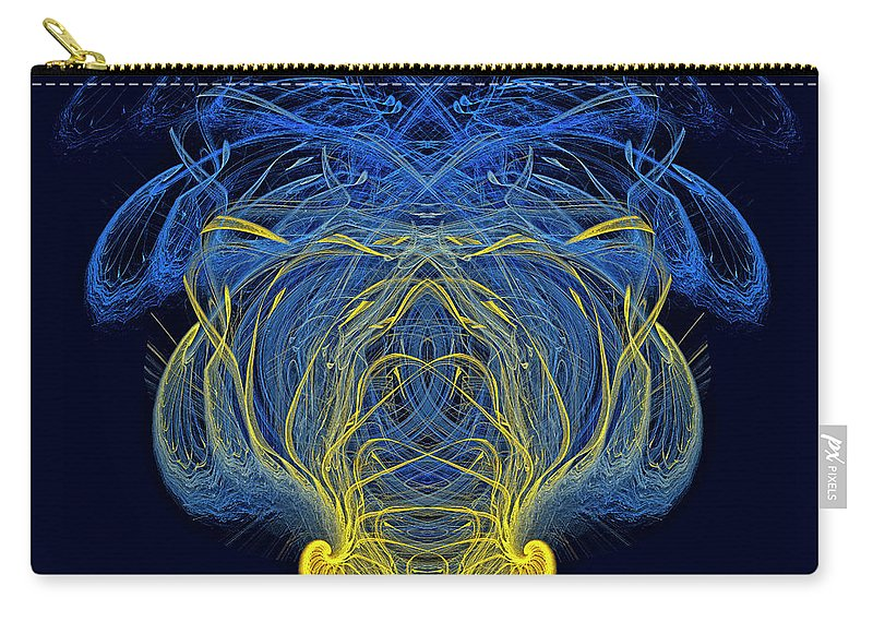 Composition Carry-all Pouch featuring the digital art Abstract Graphics by Moshe Ruzhinsky