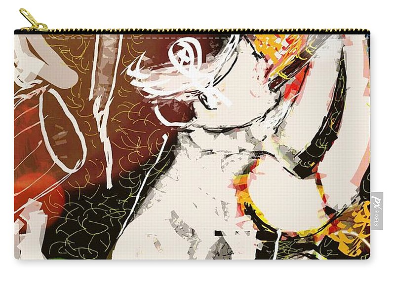 Assam Carry-all Pouch featuring the digital art Bihu Dance by Subrata Bose