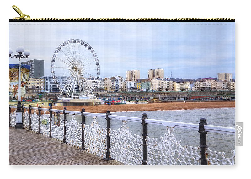 Brighton Pier Carry-all Pouch featuring the photograph Brighton Pier by Joana Kruse