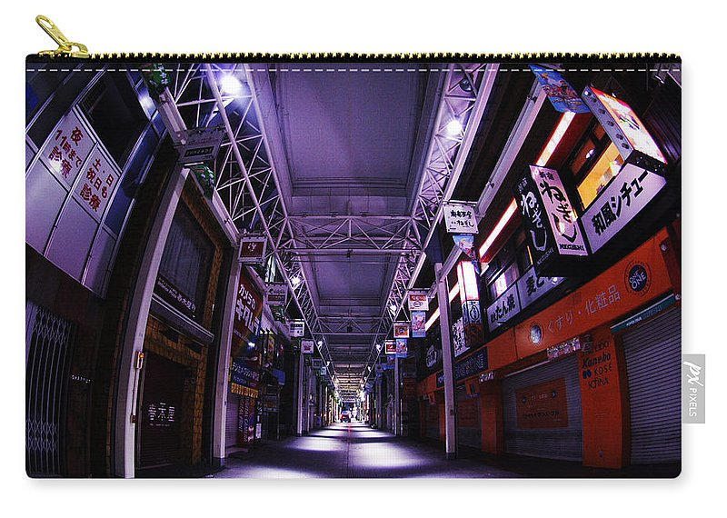 Building Carry-all Pouch featuring the digital art Building by Mery Moon