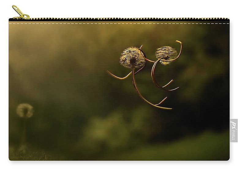 Close Up Carry-all Pouch featuring the digital art Close Up by Maye Loeser