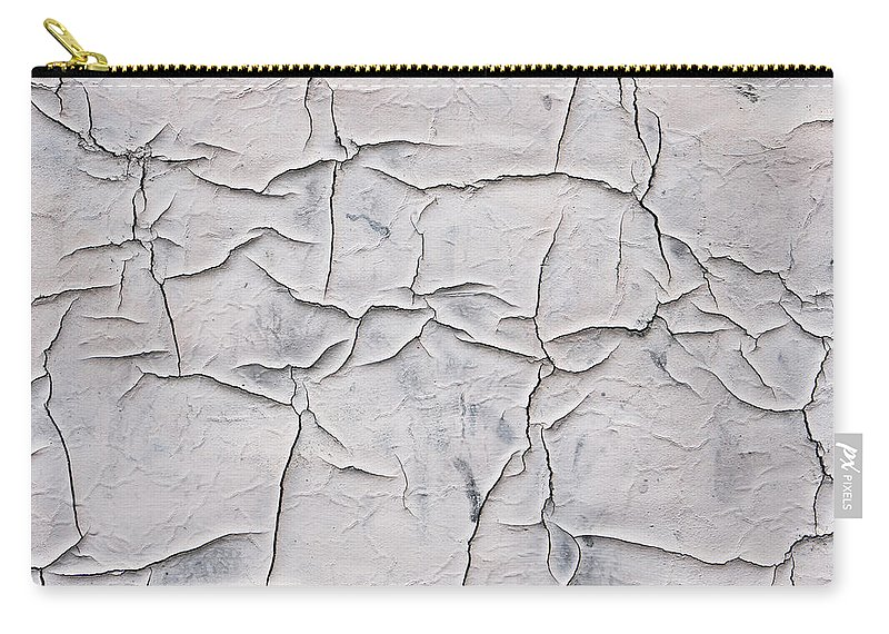 Abstract Carry-all Pouch featuring the photograph Cracked Paint by Tom Gowanlock