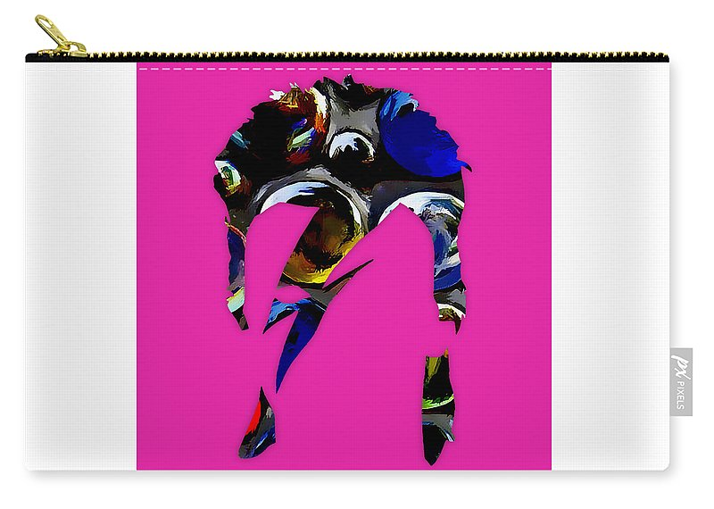 David Bowie Carry-all Pouch featuring the digital art David Bowie Art by Love Art