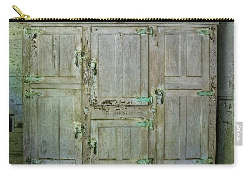 Doors Carry-all Pouch featuring the photograph 6 Doors by Louise Reeves