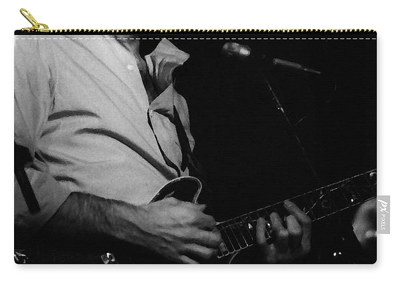 Bob Weir Carry-all Pouch featuring the photograph #6 Enhanced Bw by Ben Upham