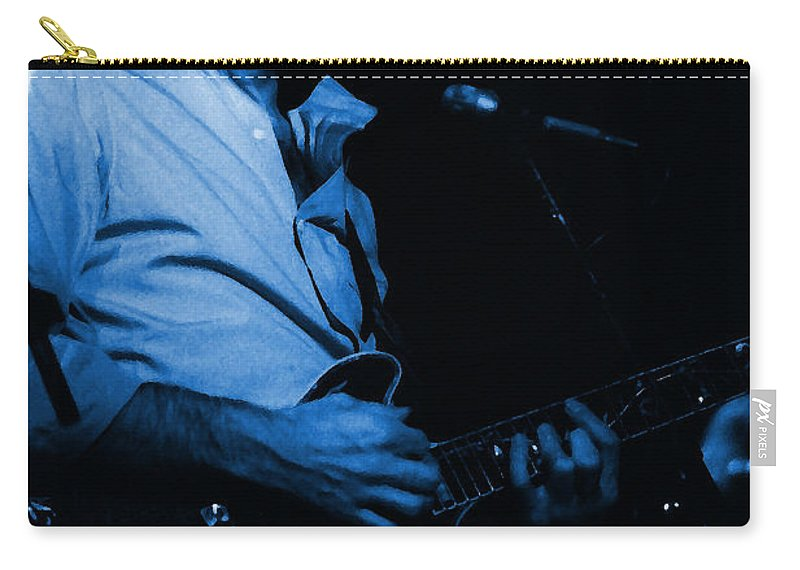 Bob Weir Carry-all Pouch featuring the photograph #6 Enhanced In Blue by Ben Upham