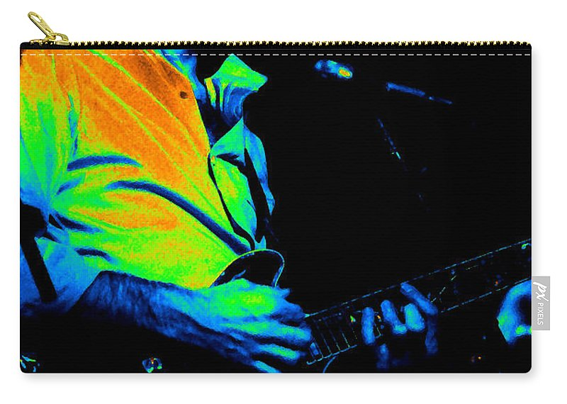 Bob Weir Carry-all Pouch featuring the photograph #6 Enhanced In Cosmicolors by Ben Upham