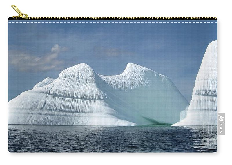 Iceberg Photograph Ice Water Ocean Sea Atlantic Summer Newfoundland Carry-all Pouch featuring the photograph Iceberg by Seon-Jeong Kim