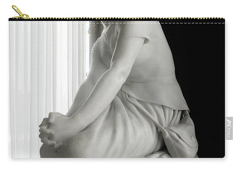 Art Carry-all Pouch featuring the digital art Inside Chantilly Castle France by Carol Ailles