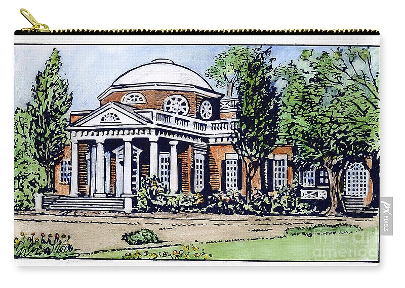 18th Century Carry-all Pouch featuring the photograph Jefferson: Monticello by Granger