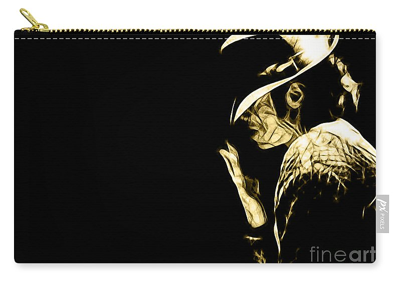 Michael Jackson Art Carry-all Pouch featuring the mixed media Michael Jackson Collection by Marvin Blaine