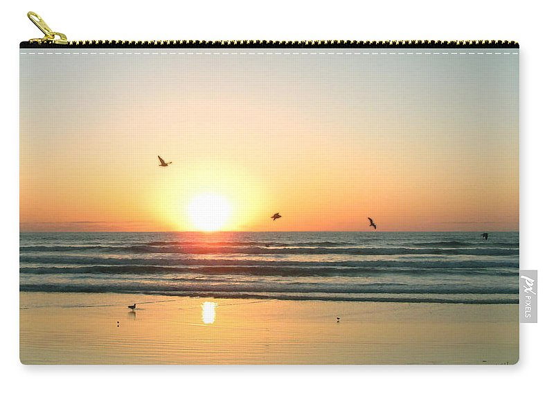 Wgilroy Carry-all Pouch featuring the photograph Ocean Sunrise Sunset by W Gilroy
