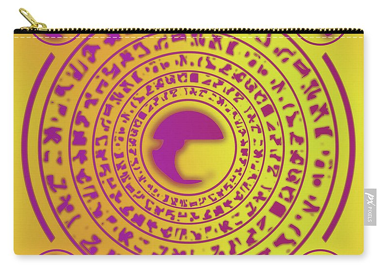 Rune Carry-all Pouch featuring the digital art Runes by Miroslav Nemecek