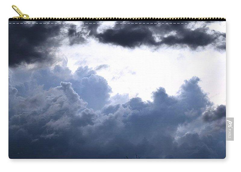 Landscape Carry-all Pouch featuring the digital art SKY by Erin Schuettler