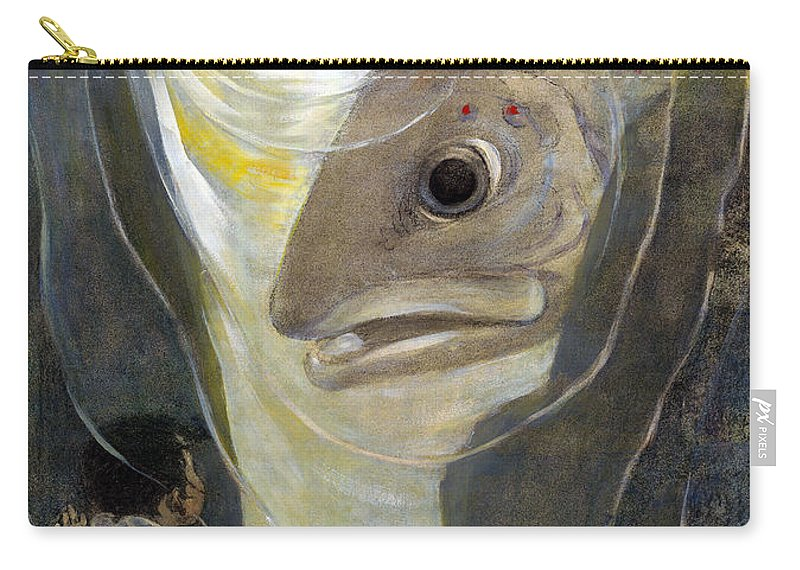 1916 Carry-all Pouch featuring the painting The Water Babies by Granger