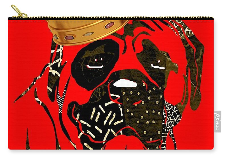 Dog Carry-all Pouch featuring the mixed media Top Dog Collection by Marvin Blaine