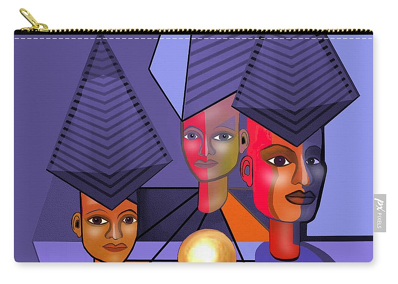 634 Carry-all Pouch featuring the digital art 634 - The Golden Gift . A.. by Irmgard Schoendorf Welch