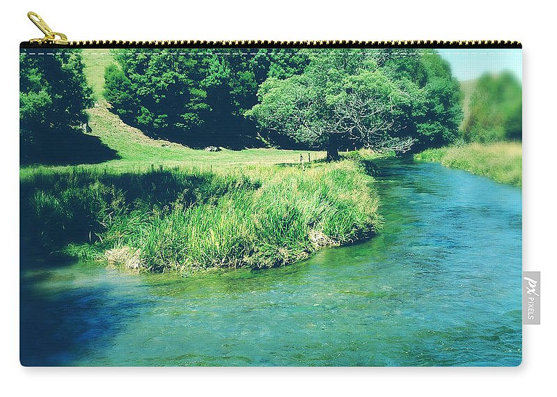 Blue Carry-all Pouch featuring the photograph Spring Water by Les Cunliffe