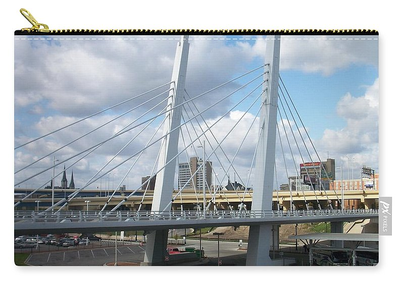 Bridge Carry-all Pouch featuring the photograph 6th Street Bridge by Anita Burgermeister