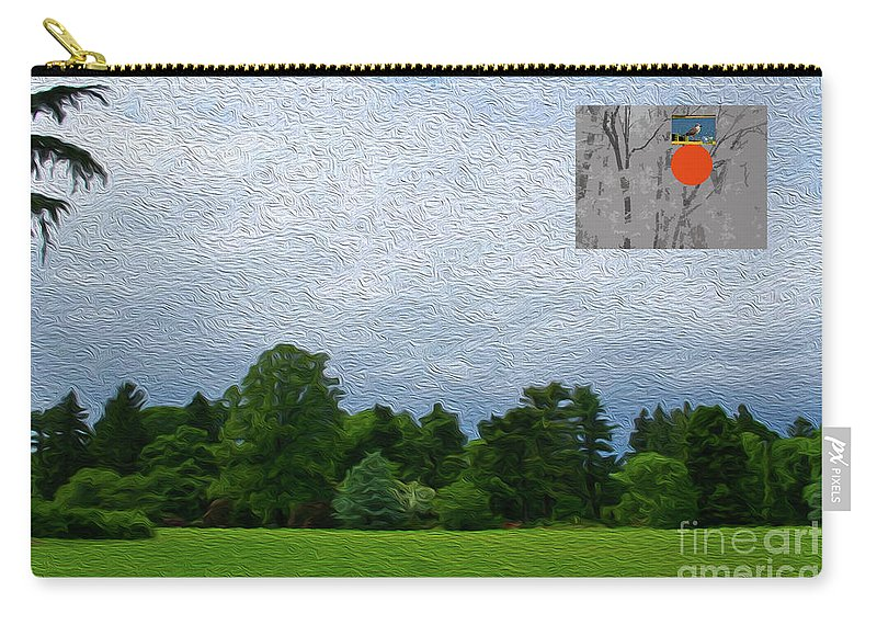 Walter Paul Bebirian Carry-all Pouch featuring the digital art 7-16-3057c by Walter Paul Bebirian