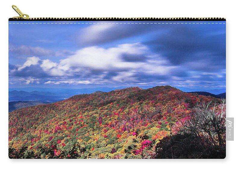 Mountain Carry-all Pouch featuring the photograph Beautiful Autumn Landscape In North Carolina Mountains by Alex Grichenko