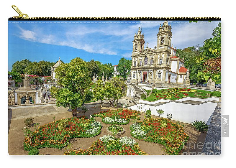 Braga Carry-all Pouch featuring the photograph Braga Sanctuary Portugal by Benny Marty