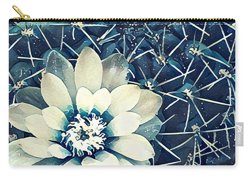 Carry-all Pouch featuring the digital art Cacti by Melinda Sullivan Image and Design